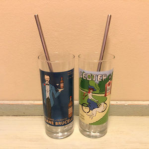 French Art Tall Drinking Glasses